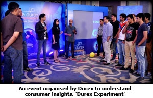 An event organised by Durex to understand consumer insights, 'Durex Experiment'