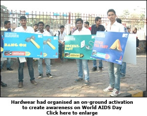 Hardwear had organised an on-ground activation to create awareness on World AIDS Day