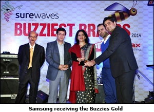 Samsung receiving the Buzzies Gold