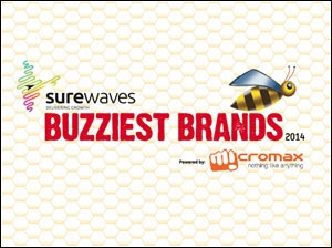 Surewaves Buzziest Brands 2014