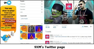 9XM's Twitter page