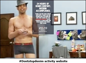 #Dontstopdenim activity website