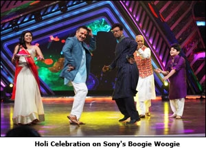 Holi Celebration on Sony's Boogie Woogie