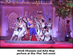 Ritvik Dhanjani and Asha Negi perform at Star Plus' holi event