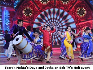 Taarak Mehta's Daya and Jetha on Sab TV's Holi event