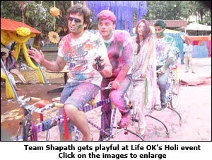 Team Shapath gets playful at Life OK's Holi event