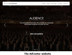 The AdCenter website