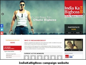 IndiaKaBigBoss campaign website