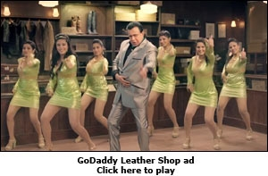 GoDaddy Leather Shop ad