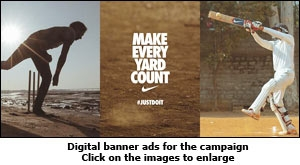 Digital banner ads for the campaign