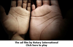 The ad film by Rotary International
