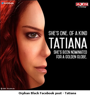 Orphan Black Facebook post - Tatiana