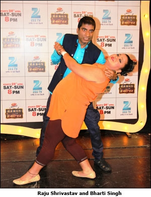 Raju Shrivastav and Bharti Singh