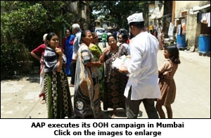 AAP executes its OOH campaign in Mumbai
