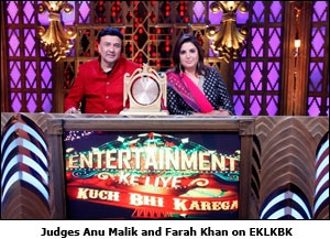 Judges Anu Malik and Farah Khan on EKLKBK