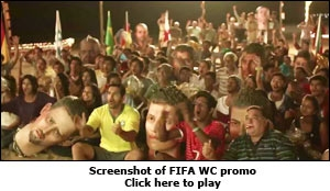 Screenshot of FIFA WC promo