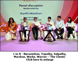 L to R - Narasimhan, Tripathy, Satpathy, Marshan, Warke, Warrier - 'The Clients'
