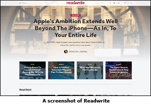 A screenshot of Readwrite