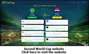 A screen grab of the Second World Cup website