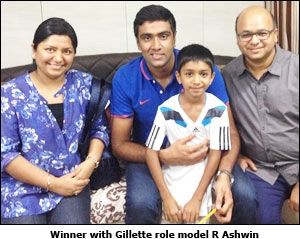 Winner with Gillette Role Model R Ashwin