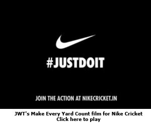 JWT's Make Every Yard Count film for Nike Cricket