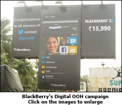BlackBerry's Digital OOH campaign