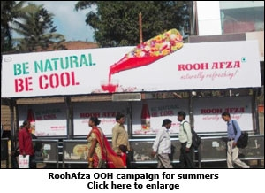 RoohAfza OOH campaign for summers