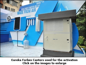 Eureka Forbes Canters used for the activation