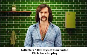 Gillette's 100 Days of Hair video