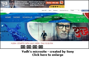 Yudh's microsite - created by Sony