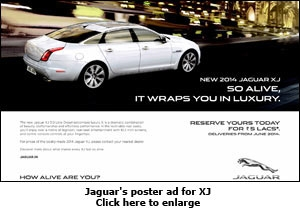 Jaguar's poster ad for XJ