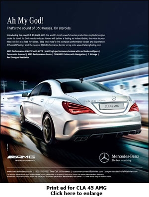 Mercedes is not merely for chauffeur driven customers for Mercedes benz new advert
