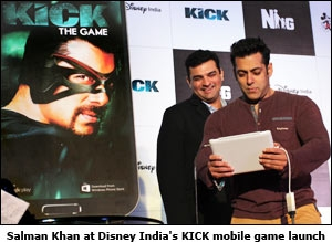 Salman Khan at Disney India's KICK mobile game launch