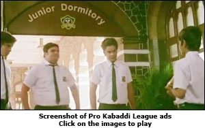 Screenshot of Pro Kabaddi League ad