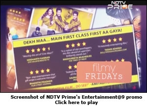 Screenshot of NDTV Prime's Entertainment@9 promo