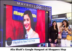 Alia Bhatt's Google Hangout at Shoppers Stop