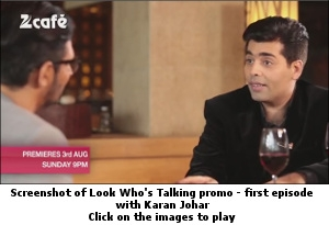 Look Who's Talking promo first episode with Karan Johar