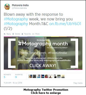 Motography Twitter Promotion