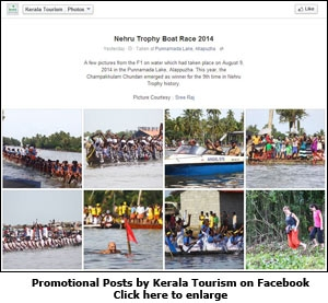 Promotional Posts by Kerala Tourism on Facebook
