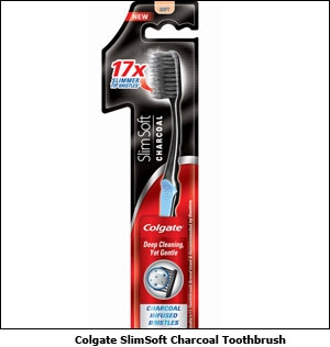 Colgate SlimSoft Charcoal Toothbrush