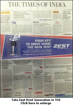 Tata Zest Print Innovation in TOI