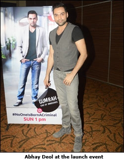 Abhay Deol at the launch event