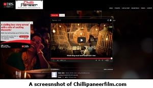 A screesnshot of Chillipaneerfilm.com