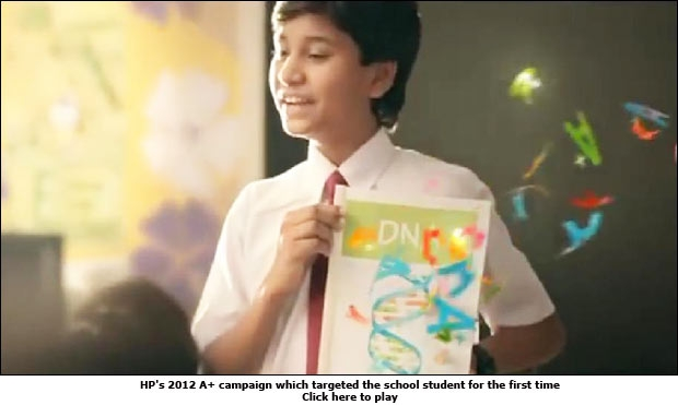 HP's 2012 A+ campaign which targeted the school student for the first time
