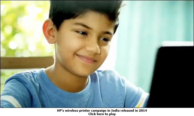 HP's wireless printer campaign in India released in 2014