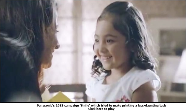 Panasonic's 2013 campaign 'Smile' which tried to make printing a less-daunting task