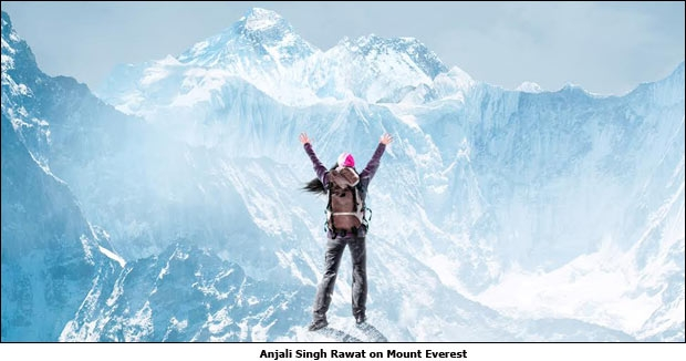 Anjali Singh Rawat on Mount Everest