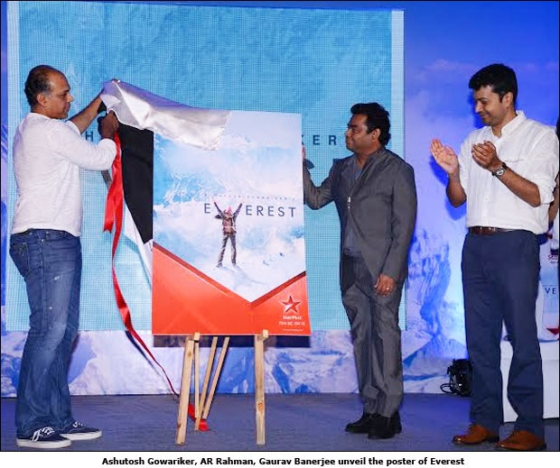 Ashutosh Gowariker, AR Rahman, Gaurav Banerjee unveil the poster of Everest