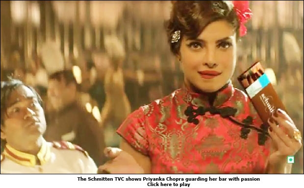 The Schmitten TVC shows Priyanka Chopra guarding her bar with passion