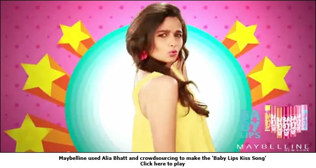 Maybelline used Alia Bhatt and crowdsourcing to make the 'Baby Lips Kiss Song'